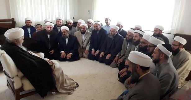 Kubbealtı Medresesi`nin eski mezunları olan Hocaefendilerin ziyareti